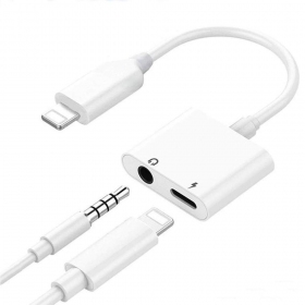 Adapteris bluetooth ADP13 iš Lightning į Lightning + 3,5mm (balts)